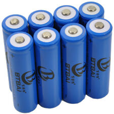 10x 1200mAh 3.7V 18650 Li-ion Rechargeable LED Flashlight Torch Battery+Charger