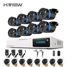 H.View 8X 2.0MP 8CH HDMI 1080N CCTV DVR 1080P Home Security Video Camera System