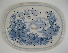 Goodwin Bridgewood & Orton. 'Oriental Flower Garden' pearlware drainer 1828