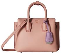 MCM Designer Handbags Milla Pink Blush Leather Mini Tote Bag