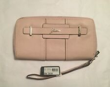 Guess Greyson Large Zip Around Wallet in Light Rose w/Wrist Strap New w/Defects