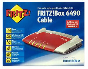 AVM FRITZBox 6490 Kabelmodem 4-Port Gigabit WLAN MESH Router Alle Kabelanbieter