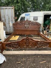 More details for vintage french style roccoco bed king size