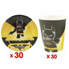30pcs Batman Paper Plate & 30pcs Cup Tableware Set Decoration Party Supplies