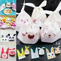 Rabbit Ear Cookie Bags Plastic Candy Biscuit Wrapping Treat Gift Bags Q
