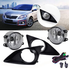 For Toyota Corolla 2009-2010 Clear Lens Fog Lights Lamps Grille Cover + Harness
