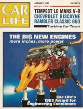 CAR LIFE 1963 JAN - VETTE SUSPENSION, V8 LEMANS, HCS, HIGH PERFORMANCE ENGINES