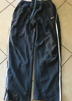Nike Dri-Fit Athletic Tennis Pants Charcoal White Blue 342165-033 Men's L