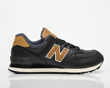 New balance 574 Para Hombre Negro Marrón Casuales Atléticas Zapatos Zapatillas de estilo de vida de bajo