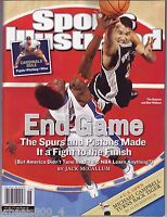 Sports Illustrated 2005 SPURS Tim Duncan PISTONS Ben Wallace Newsstand Issue