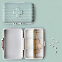 6 Gitter Tragbar Pillendosen Medizin Box Sperre Medizin Pille storage Container