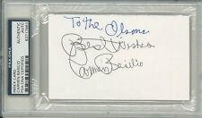 Carmen Basilio Signed Autographed 3x5 Index Card Slabbed Psa/Dna #83717683