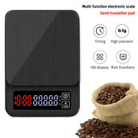 LED Digital Electronic Drip Coffee Scale with Timer 3kg 5kg 0.1g Digital Scale