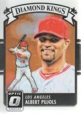 2016 Donruss Optic Baseball #13 Albert Pujols Diamond Kings Angels