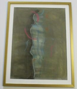 ROBERT DOWD ORIGINAL DRAWING ABSTRACT EXPRESSIONISM SURREAL NUDE FIGURE MAN VTG