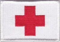Medic Red Cross Deployment Patch hook backing