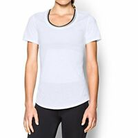$30 Under Armour Women's Streaker Short Sleeve T-Shirt, White/White, Small