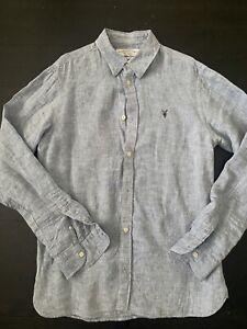 All Saints Linen Shirt Mens Medium Allsaints
