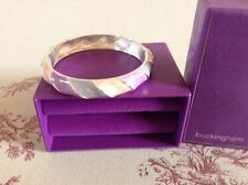 "DEBENHAMS ""BUCKINGHAM"" ENAMEL HINGED BRACELET - BOXED"