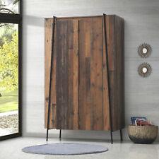 Abbey Two Door Rustic Wardrobe - Rustic Oak