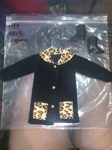 Barbie Coat Collection Fashions 1999 Black Coat, Leopard, Mattel 68696 - 92