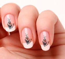 20 Art Ongles Stickers Transferts #746 - La reine des neiges Olaf peler & bâton