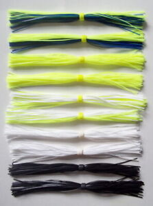 10 Custom Made Silicone Spinnerbait Skirts(Variety Solid #1)-Bass Fishing-NEW