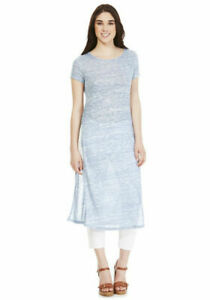 Womens Side Slit Maxi T-Shirt Long Top Maxi Dress T-shirt Split Top