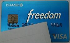 Expired Chase Freedom Visa Plastic Blue Card Usa