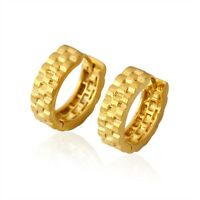 Women's Earrings Hoops GF 18k Yellow Gold Filled 15MM Fashion Jewelry