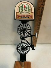 Cycler'S Brewing Saddletime Ipl beer tap handle. Texas
