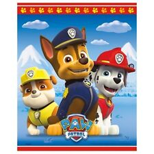 Paw Patrol 8 Ct Favor Loot Bags Birthday Party Rubble Marshall Chase Plastic