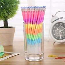 10Pcs Colorful 6in1 Color Highlighter Gel Pens Refills Student Office Stationery