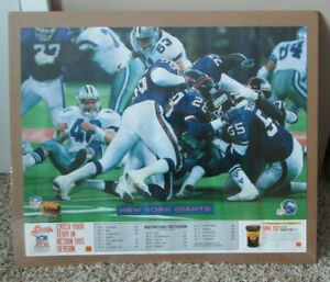 VINTAGE NFL 1992 NEW YORK GIANTS SEASON SCHEDULE POSTER LAWRENCE TAYLOR RARE