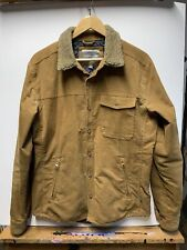 Toad & Co Mens Cord Jacket Quilt Lined Sherpa Fleece Collar Size M Tan