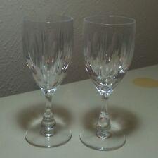"""Vintage Tudor Crystal Hawkins Water Goblet 7 1/4"""" England Set Of 2 VHTF"""
