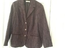 Ladies Tailored Jacket CANDA Collection by C & A Size 20 Brown