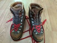 Vintage Galibier Richard Pontvert Heavy Leather Hiking Boots France US Men's 6