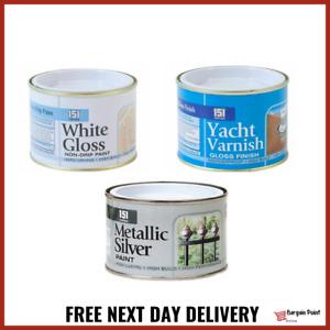 Metallic Silver Gloss White Varnish Wood Metal Concrete Railing Gate Paint 180ml