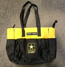 Novelty Military Army Baby Diaper Bag Tote Pool Lunch Bag Zippered Black&Yellow