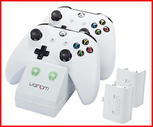 Venom Xbox One S Twin Docking Station with 2x Rechargeable Battery Packs White