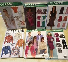 New Look Sewing Patterns Misses 8-18 Uncut Skirts Tops Pants Lot/6 Simplicity