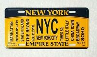 """ NEW YORK CITY "" NY License Plate Official Size Embossed Souvenir Travel Gift"