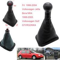 5Speed Auto Gear Shift Knob Gaitor Boot for VW Golf Bora Jetta GTi R32 MK4 99-05