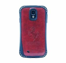 Samsung Galaxy S4 TPU/Leather, shockproof car logo case - matte red