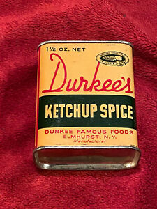 Vintage Durkee's Ketchup Spice Tin, Unopened!