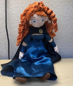 "Disney Store Brave 20"" Plush Princess MERIDA Doll Character w/ Black Cape Read!!"