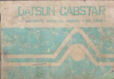 DATSUN F20 SERIE 2.0 Benzina camion ORIGINALE 1978 Proprietari Manuale di istruzioni
