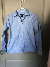 Nordstrom Gant Brand Women's Blue Striped Button Down Size 4 NEW