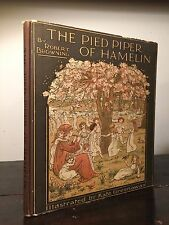 THE PIED PIPER OF HAMELIN, R. Browning Illust. Kate Greenaway Cir 1890s HC